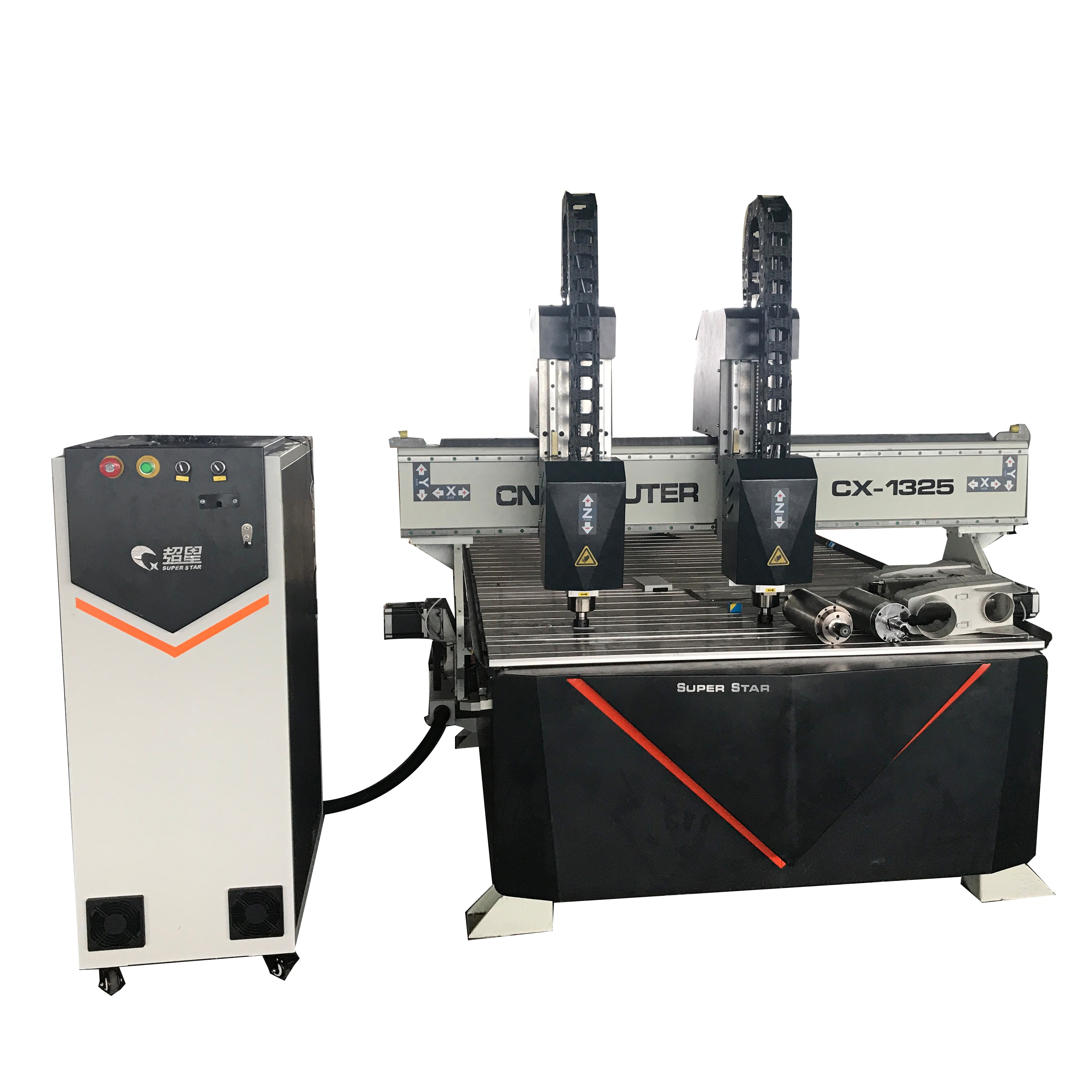 Superstar CNC CX - Double Heads Woodworking Engraving/Cutting Machine